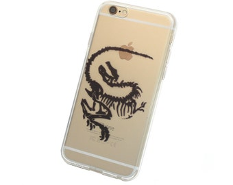 Velociraptor Dinosaur Fossil Phone Case for iPhone 5, SE, 6, 6 Plus, 7, 7Plus, 8, 8 Plus and X. TPU or Wood Options
