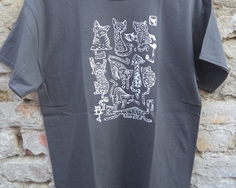 Cats - graphite short sleeve T-shirt
