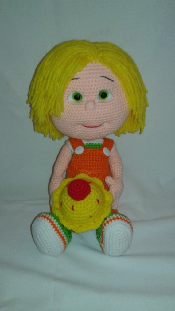 SAM Crochet Amigurumi Doll with Cupcake and 2 by ...