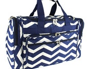 "The "" Big Day"" 22"" Chevron Duffle- Most Popular!"