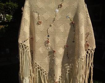 Crochet shawl shabby chic