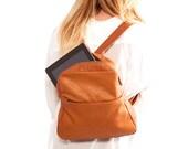 Sale!!! Small leather Backpack, Brown lightweight  leather bag womens small Backpack leather backpack women travel bag - Batia bag handmade