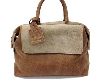 SALE !!! Distressed Brown leather tote, leather handbag bag in brown, Medium bag