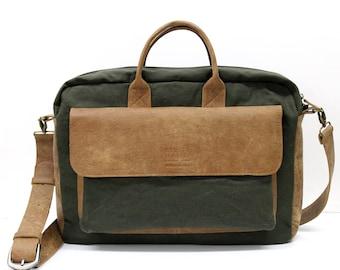 Sale!!! mens messenger  laptop bag, laptop bags for women messenger bag men messenger bag laptop Canvas and Leather Laptop Messenger 13 15.6