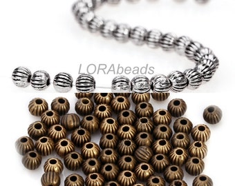 50pcs/100pcs/200pcs Hot Antique Silver/Bronze Tibetan Silver Spacer Beads 3.5mm