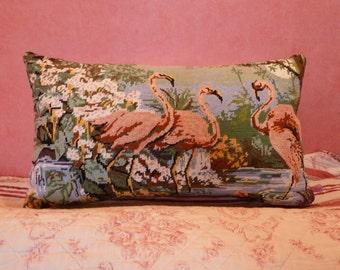 Cushion canvas with Flemish landscape roses
