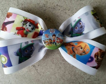 Paw Patrol Hair Bow. Boutique style bow.