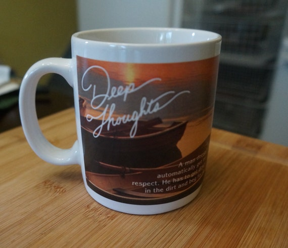 Deep Thoughts Mug; By Jack Handey; Saturday Night SNL; Approx. 3x4 Inches