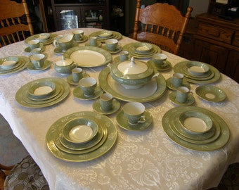 Simpsons Potters of England Full Dinner Setting for 8 People With Completer Set