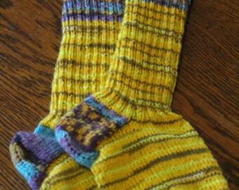 Handknitted wool socks