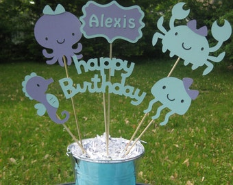 Under the Sea Party Table Centerpiece, Under the Sea Birthday Decorations , Sea Life Party Decorations, Personalized Party Decorations