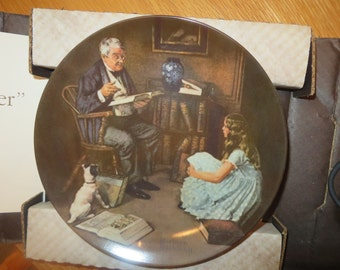 Norman Rockwell Collector Plate, Story Teller