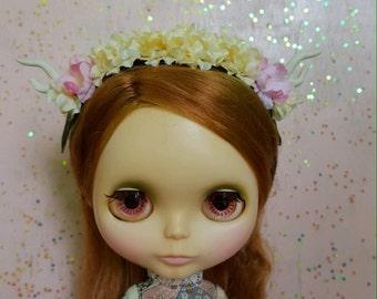 Flower Crown Deer Headband for Blythe