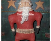 Primitive Christmas Stumpy Chunkers Santa doll  Crows Roost Prims