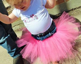Pink Denim Tutu-Baby Tutu-Toddler Tutu-Pink Tutu-Denim Tutu-Tulle Tutu-Tutu Skirt-Pink Jean Tutu-Pink Tutu-Birthday Tutu-Photo Prop