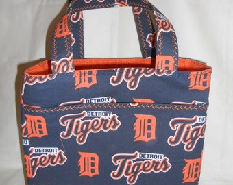 Detroit Tigers Tote Bag - Handmade Fully Lined w/Pockets