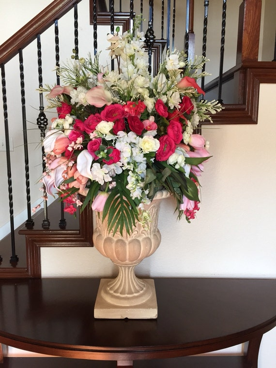 Large Arrangement For Foyer : Cascading floral arrangement elegant by giftsbywhatabeautifu