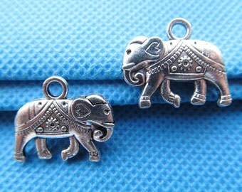 16mmx20mm Antique Silver tone Filigree Elephant Pendant/Hanging Charm/Finding,DIY Accessory Jewellry Making