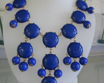 Blue Bubble Fashion Style Statement Necklace