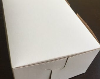 20 Bakery Cookie Pastry Box 8 x 5 x 3  White