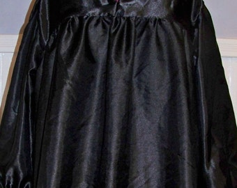Black Satin Renaissance  Shirt.