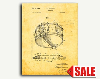 Patent Art - Snare Drum Patent Wall Art Print Poster