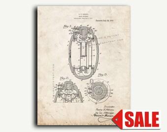 Patent Print - Hand Grenade Patent Wall Art Poster Print
