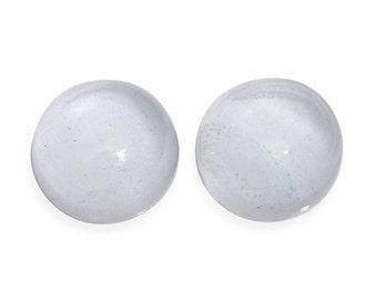 Brazilian Milky Aquamarine 6mm Round Cabochon Loose Gemstones Set of 2 1A Quality TGW 1.55 cts.