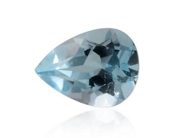 Sky Blue Topaz Pear Cut Loose Gemstone  1A Quality 9x7mm TGW 1.40 cts.