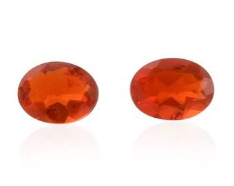 Fire Opal Loose Gemstones Set of 2 Oval Cut 1A Quality 4x3mm TGW 0.15 cts.