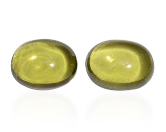 Italian Idocrase Set of 2 Oval Cabochon Loose Gemstones 1A Quality 8x6mm TGW 2.65 cts.