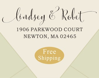 Free shipping-wedding Return Address Stamp -address rubber stamp - CUSTOM Self-Inking Personalized Return Address Stamp
