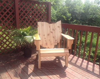 KIT Ohio Adirondack Chair Handmade Wood Furniture Rustic Cedar patio Ohio Chair Kit Adirondack Chair unfinished