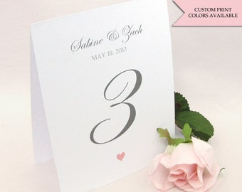 Table numbers wedding  - Table numbers - Wedding table numbers - Reception table numbers - Elegant wedding signs