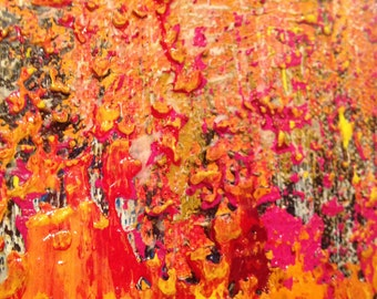 Abstract Painting, Jenesstudio, acrylic,mix media, wall art, colorful