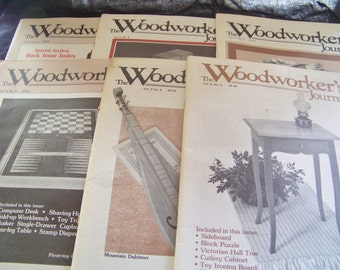 Vintage The Woodworkers Journals 1984, 1985