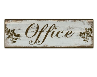 "Office sign Office plaques Office decor home office decor business signs boutiques signs boutique decor mother's day gifts 18.5""x6""x3/4"""