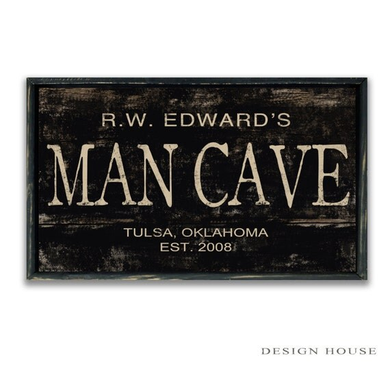 Stores That Sell Man Cave Signs : Personalized man cave sign custom signs decor
