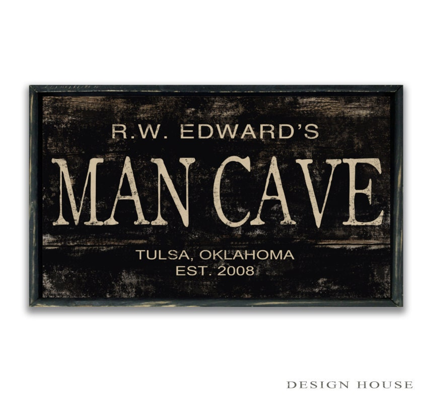 Man Cave Signs To Buy : Personalized man cave sign custom signs decor