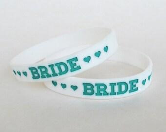 Bachelorette Party Favors - Bachelorette Party Bracelet - Bride Bracelet - Teal