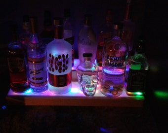 Illuminated Bottle Display. (multi colored)