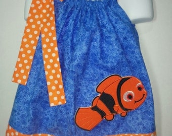 Finding Nemo Dory Girl Pillowcase Pillow Case Girl Boutique Summer Sun Dress! Birthday Party Park Dress Ocean Fish