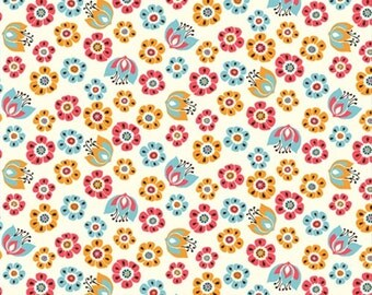 Tuiip Toss, Birch Organic Fabrics Frolic Collection by Rebekah Ginda