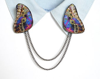 Boho brooch , boho pin , bohemian brooch , bohemian pin , boho jewelry , bohemian butterfly , boho butterfly , gypsy jewelry , gypsy brooch