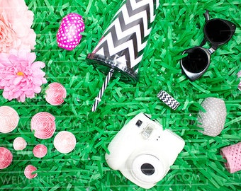 Party Styled Stock Image | Stock Photo | Green Styled Stock Photography | Summer | Grass | Hipster | Website Design Background