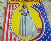 "Paper Dolls, Uncut Whitman Vintage Paper Dolls ""Miss America"" from 1979  #13"