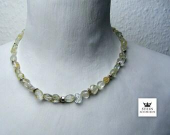 Topaz necklace, sterling silver, unique