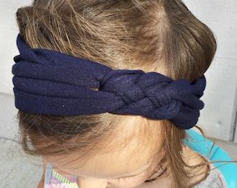 ADULT Solid Navy sailors knot headband