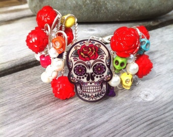 Day of the Dead Corsage Cuff