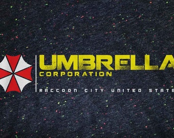 Resident Evil: Umbrella Corporation Speckled Girls Rolled Sleeve T-shirt